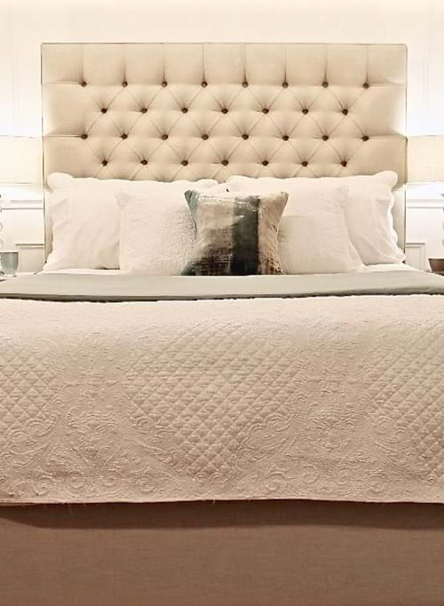 upholstered beds, king bed, queen bed, Buttoned Bed, Buttoned Bedhead, chesterfield, tufted, diamond buttoning, bedhead, headboards, bed heads, custom made, upholstery, melbourne, Sydney, perth, adelaide, brisbane