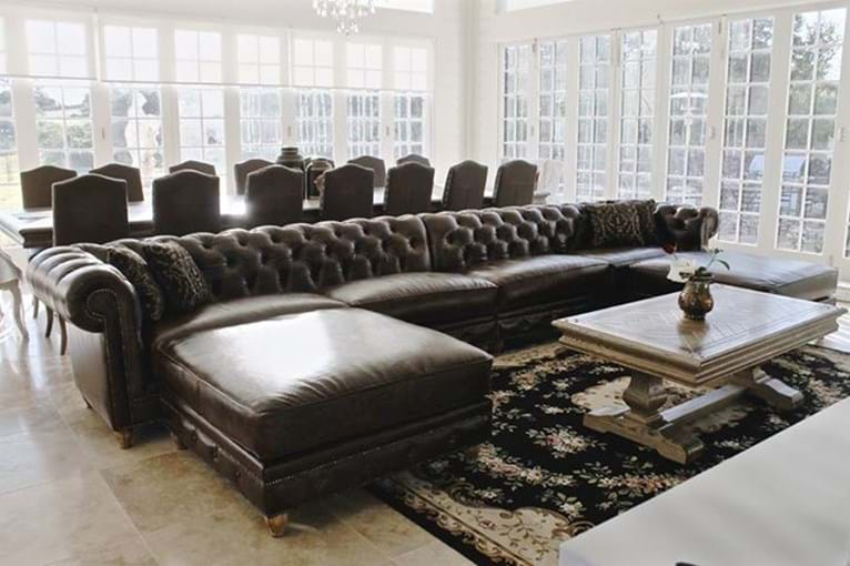 Sofa Couch Contemporary Chesterfield Tufted Diamond