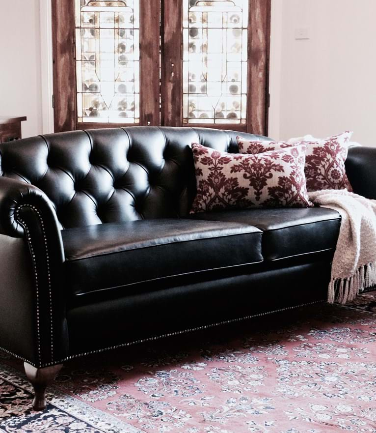sofa, couch, contemporary, chesterfield, tufted, diamond buttoning, custom made, upholstery, chair, lounge chair, australia, melbourne, sydney, perth, adelaide, brisbane