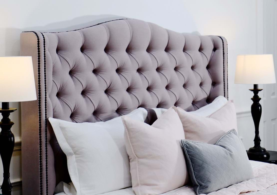 upholstered beds, upholstered bedheads,bedheads, headboards, buttoned bed, buttoned bedhead, chesterfield, tufted, diamond buttoning, bed heads, custom made, australia, melbourne, sydney, perth, adelaide, brisbane,
