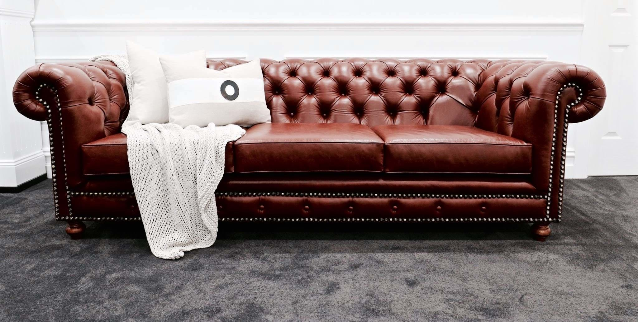 sofa, couch, contemporary, chesterfield, tufted, diamond buttoning, custom made, upholstery