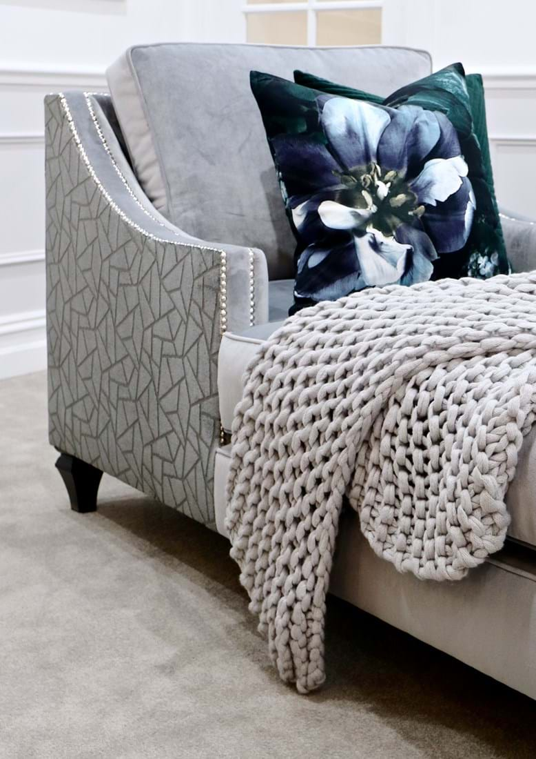 Sofa, Couch, Contemporary, Chesterfield, Tufted, Diamond