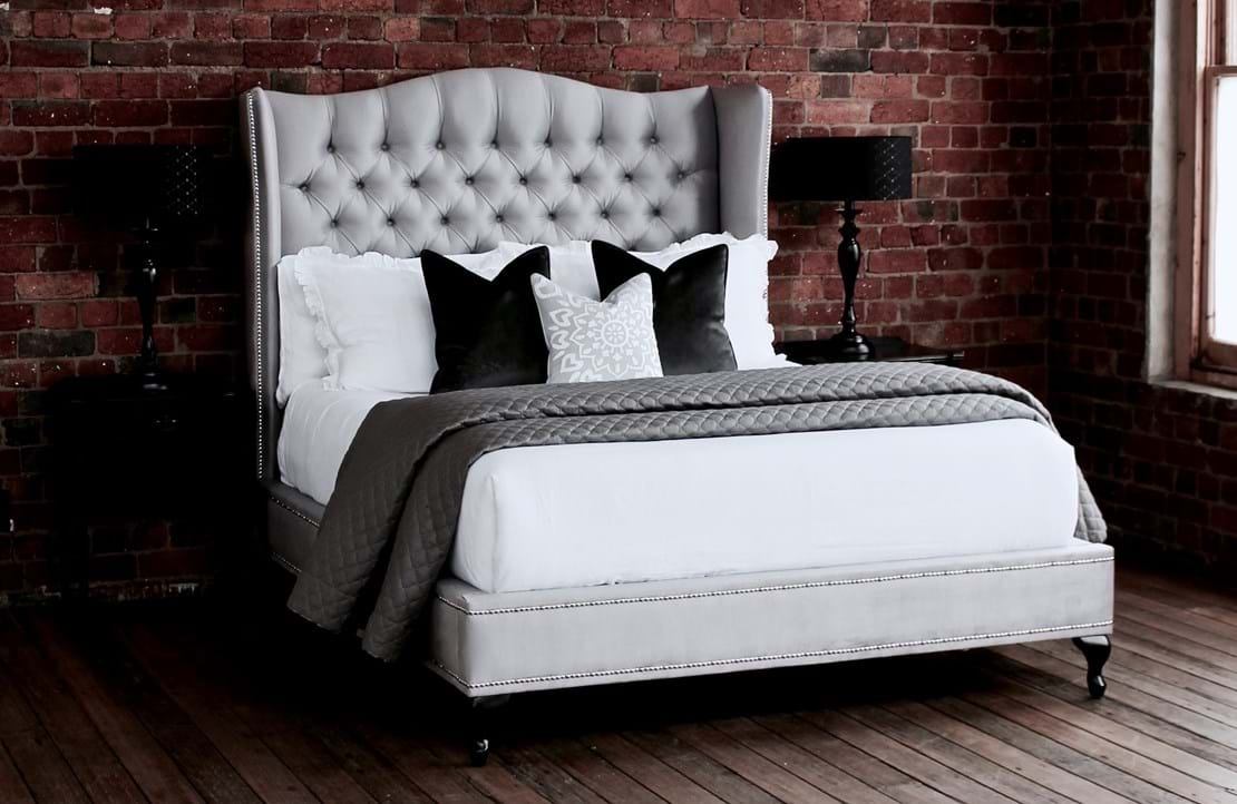 upholstered beds, upholstered bedheads,bedheads, headboards, buttoned bed, buttoned bedhead, chesterfield, tufted, diamond buttoning, bed heads, custom made, australia, melbourne, sydney, perth, adelaide, brisbane, Waldorf Bed