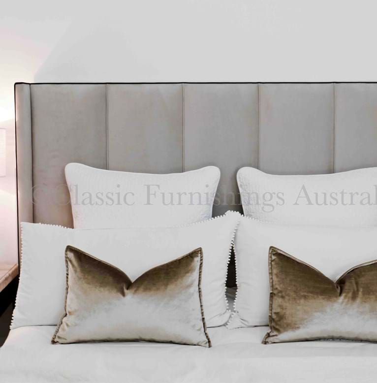 wing bed head, wing bedhead, upholstered beds, upholstered bedheads, bedheads, headboards, buttoned bed, buttoned bedhead, chesterfield, tufted, diamond buttoning, bed heads, custom made, australia, melbourne, sydney, perth, adelaide, brisbane