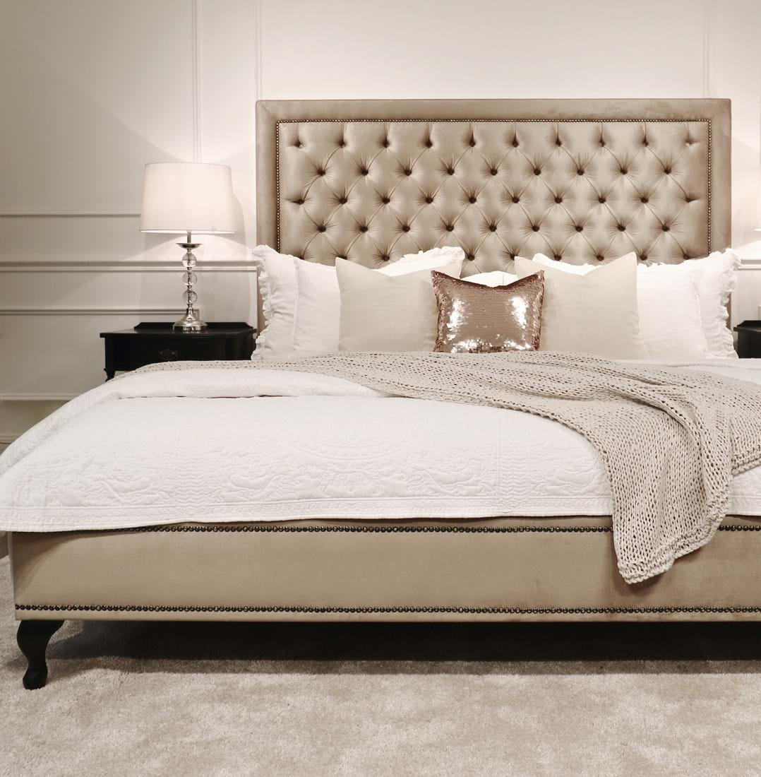 Upholstered Beds Upholstered Bedheads Bedheads Headboards Buttoned Bed Buttoned Bedhead Chesterfield Tufted Diamond Buttoning Bed Heads