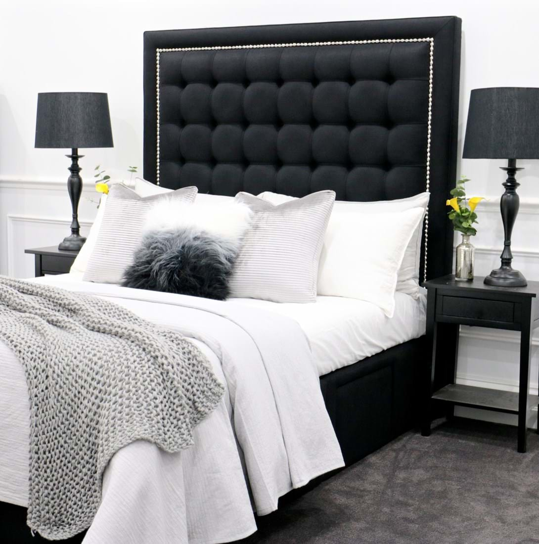 100 king size bed heads perth bedroom king size fabric bed