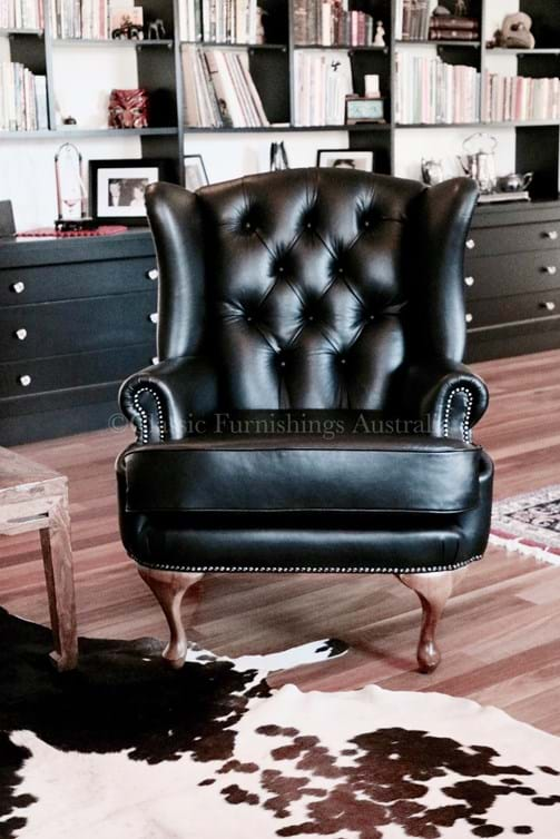 wing chair, leather, arm chair, lounge chair, custom made, upholstery, chair, velvet, linen, leather, australia, melbourne, sydney, perth, adelaide, brisbane