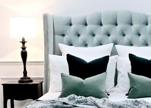 upholstered beds, upholstered bedheads, headboards, buttoned bed, buttoned bedhead, chesterfield, tufted, diamond buttoning, bed heads, custom made, australia, melbourne, sydney, perth, adelaide, brisbane
